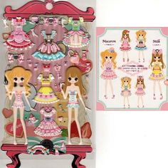Q-Lia Dolly Dolly Colorforms Stickers with Jewels: Milk & Macaron
