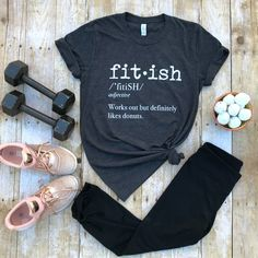 """Fitish """"Works out but definitely likes donuts"""" - this is the cutest workout outfit"""