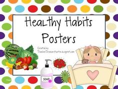 Comprehensive School Health Education: 10 Healthy Habit Posters - Perfect for back to school or teaching about Health! Health Teacher, School Health, School Nurse Office, School Nursing, School Cafe, Health Unit, Classroom Displays, Classroom Ideas, Teacher Notebook