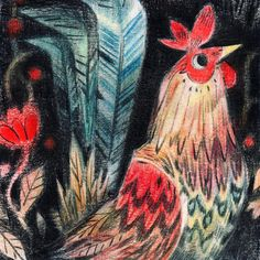 Junyi Wu -- A little golden laced wyandotte rooster shuffling through the grass for Giant Robot's Year of the Rooster show, opening this Saturday Happy Lunar New Year! Happy Lunar New Year, Different Art Styles, Galo, Freelance Illustrator, Life Drawing, Character Illustration, Farm Animals, Animal Kingdom, Art Inspo