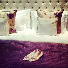 Fit for a princess - life's a fairytale @corinthialondon #luxury #bed #comfortable #luxurious #princess #fairytale #beautiful #stunning #pillows #interiordesign #bedding #interior #hotel #hotelroom #photoshoot #photo #shoes #designer #designershoes #fashion #beauty #design #purple #corinthiahotel #corinthialondon #london #londonlifestyle  Photo by @halimahbeauty at recent photo shoot for @arunaseth shoes by corinthiahotels