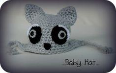 Mývalek...háčkovaná čepička Baby Hats, Crochet Hats, Slippers, Fashion, Knitting Hats, Moda, Fashion Styles, Slipper, Fashion Illustrations