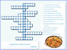 Me encanta escribir en español: la alimentación