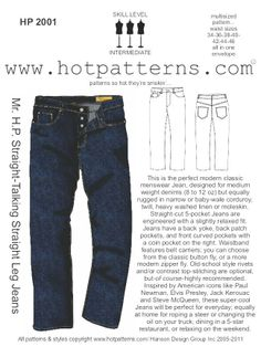 Mens Jeans Pattern : jeans, pattern, Men's, Jeans, Pattern, Ideas, Jeans,, Patterned, Sewing