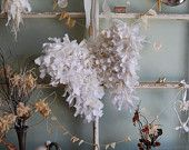 Tattered Snow Angel Wings - Abandoned Vintage Rag Fabric Shabby Chic Christmas Wings - Made To Order