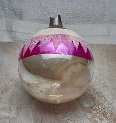 Antique  1960s glass christmas decoration  glass ball . Glass Christmas Decorations, Antique Christmas Ornaments, Christmas Bulbs, Holiday Decor, Glass Ball, 1960s, Antiques, Antiquities, Antique