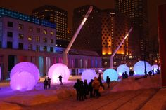 Art Installations, Light Installation, Montreal, Travel, Polar Fleece, Voyage, Art Installation, Viajes, Traveling