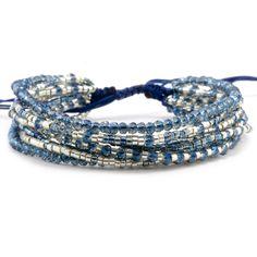 Chan Luu - Blue Mix Crystal Multi Strand Bracelet, $80.00 (http://www.chanluu.com/bracelets/blue-mix-crystal-multi-strand-bracelet/)