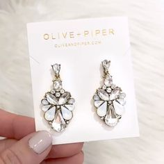 Stock your Jewelry Box with our NEW Collection of sparkling Stud Earrings, Mini Name Necklaces, Chloe Bracelets, Gold-Plated Charms & Key Chains – Shop Early for Pre-Order Items from Olive + Piper Statement Jewelry, Pearl Jewelry, Jewelry Box, Jewelry Making, Jewlery, Bridal Earrings, Stud Earrings, Costume Jewelry, Wedding Jewelry