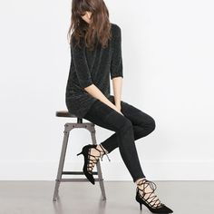 Image 2 of LACE-UP HIGH HEEL SHOES from Zara