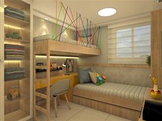 Small bedroom design for two room mates Bunk Bed Designs, Kids Bedroom Designs, Room Design Bedroom, Small Room Bedroom, Home Decor Bedroom, Condo Design, Apartment Design, Interior Design, Awesome Bedrooms