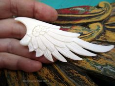 Lifted Carved Bone Wing Double Sided Undrilled - Large from Indounik on Etsy Resin Jewelry, Jewelry Crafts, Norse Runes, Bone Crafts, Eagle Wings, Carving Designs, Wood Resin, Polymer Clay Pendant, Bone Carving