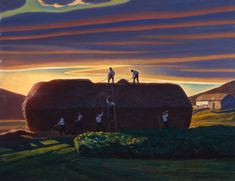 Art works Rockwell Kent, Norman Rockwell, William Blake, American Realism, American Artists, New Hampshire, Monhegan Island, Hermitage Museum, Oil Painting For Sale