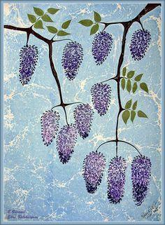 Mystical dreams by Infinitys Marble Painting, Marble Art, Ebru Art, Art Deco Wallpaper, Turkish Art, Nature Paintings, Painted Paper, Calligraphy Art, Mosaic Art
