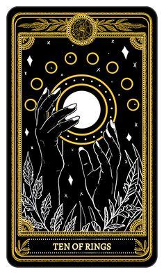 The Marigold Tarot Minor Arcana: Rings, Amrit Brar 2017 the complete deck launches on Kickstart Tarrot Cards, Arte Black, Arte Obscura, Oracle Tarot, Occult Art, Tarot Decks, Art Design, Alchemy, Dark Art