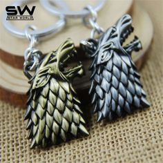 STARWORLD Movie Series Key Chain Game of Thrones Family Badge Keyring Keychain Jewelry Key Ring Key Holder For Women Men