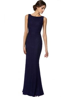 SACHI OPEN BACK MAXI DRESS in NAVY by Alice + Olivia