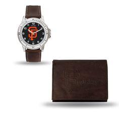 San Francisco Giants Brown Watch/Wallet Gift Set