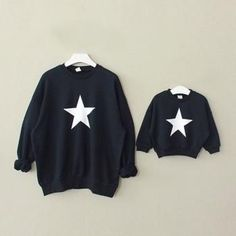 Matching sweaters :) * Breathable material<br /> * Material: Cotton<br /> * Machine wash, tumble dry<br /> * Imported<br /> <br /> Featuring its cute star print and breathable material, this family matching top is perfect for your family happy time. Family Shirts, Shirts For Girls, Mother Father And Baby, Matching Sweaters, Matching Clothes, Mother Daughter Outfits, Boys Hoodies, Sweatshirts, Matching Family Outfits