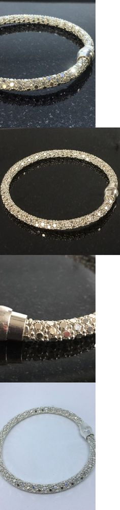 Precious Metal without Stones 164313: Sterling Silver 4.5Mm Popcorn Link 7 1 2 Inch Bracelet Magnatic Clasp -> BUY IT NOW ONLY: $49.99 on eBay!