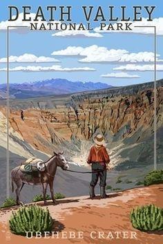 Ubehebe Crater - Death Valley National Park - Lantern Press Poster