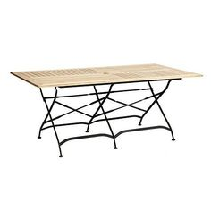 Giardino Rectangular Dining Table- Ballard Designs by Ballard Designs. $759.00. X-stretchers & subtle twist details. Alternating slats encourage drainage. Folds for easy set-up & storage. Folds for easy set-up & storage. X-stretchers & subtle twist details. Alternating slats encourage drainage. Our Giardino teak dining table has the look of those charming slatted wood tables you see in the sidewalk cafes of Europe. The sturdy frame is crafted of rust-resistant, pow...