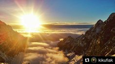 Doslova božský pohľad...  #praveslovenske od @kikufiak  I will always remember.. This valley and the time I spent there. Every day for almost one year   #vysoketatry #slovakia #sunset #sun #nature #hiking #mountains #clouds #inversion #rocks #sky #tatramountains #winter #snow #slovensko