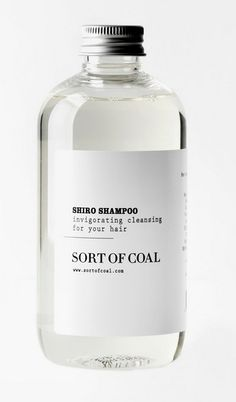 shiro shampoo / I love packaging in glass bottles with simple labels...