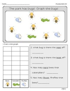 Common Core Math Assessments for First Grade- Measurement