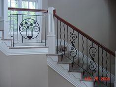 custom stair railing  #Stair