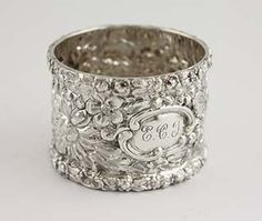 Forget-Me-Not by Stieff NAPKIN RING #2
