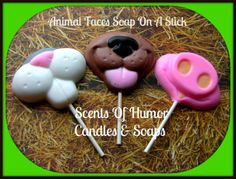 ANIMAL NOSES FACeS SOAP On A STiCK  Kids by SCENTSOFHUMORCANDLES, $9.99