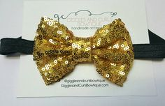 Check out this item in my Etsy shop https://www.etsy.com/listing/523672683/gold-sequin-hair-bow-headband-girl