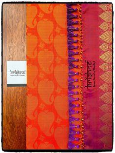 Bridal Saree Tassel Saree Tassels Designs, Saree Kuchu Designs, Blouse Designs Silk, Simple Sarees, Trendy Sarees, India Jewelry, Saree Wedding, Baby Design, Cotton Saree
