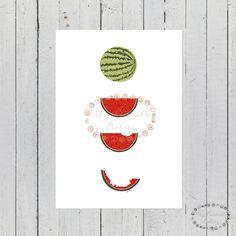 laminas sandia, lamina sandia, laminas nordicas, laminas frutas, laminas A4, laminas A3, laminas imprimibles, laminas decoracion