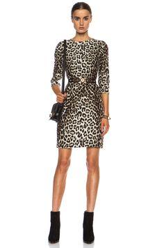 rag & bone Short Silk Dress in Leopard | FWRD [1]