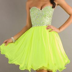Short Strapless Tulle Party Dress by Mori Lee 9204 Neon Lime Prom Dresses For Sale, Homecoming Dresses, Evening Dresses, Formal Dresses, Prom Dreses, Pageant Dresses, Formal Wear, Vestidos Neon, Strapless Party Dress