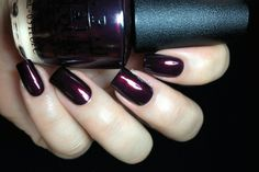 OPI Every Month Is Oktoberfest is hands down my absolute favorite of this collection and probably one of my biggest nail crushes this year. Ink blue base with a very dark predominant red shimmer that match so perfectly, creating THE perfect vampy shimmer. I wouldn't change a thing about it! Formula was also a perfect two coater.