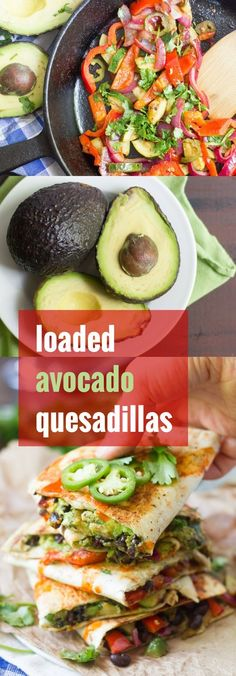 Crispy on the outside, stuffed with creamy avocado and flavor-packed veggies, these dairy-free, fully loaded avocado quesadillas are sure to be a hit!