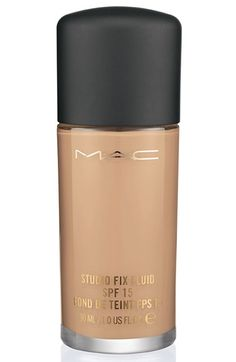 Free shipping and returns on M·A·C 'Studio Fix' Fluid Foundation SPF 15 at Nordstrom.com. A modern foundation that combines a natural matte finish and medium-buildable coverage with broad-spectrum UVA/UVB SPF 15. Comfortable and long-wearing: lasts for up to eight hours. Applies smoothly, builds coverage quickly and easily. Contains specially treated micronized pigments and soft-focus powders for a super-smooth look that helps minimize the appearance of imperfections. Absorbs and disperses…