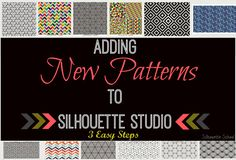 Adding Patterns to Silhouette Studio in 3 Easy Steps - Silhouette School