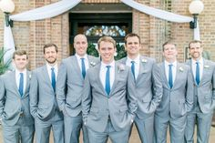 Navy and gray groomsmen outfit inspiration