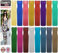 Womens Dresses Ladies Muscle Vest Racer Back Long Maxi Dress 8 10 12 14 16 18 20