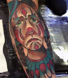 75 Clown Tattoos For Men - Comic Performer Design Ideas Leg Tattoo Men, Leg Tattoos, Tattoos For Guys, Good Clowns, Clown Images, Clown Tattoo, Scary, Ink, Mens Fashion