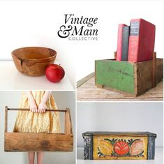 Unique vintage finds for storage and organization from the shops at Vintage And Main Farmhouse Chic, Vintage Farmhouse, Product Offering, Unique Vintage, Rustic Decor, Vintage Fashion, Shops, Organization, Storage