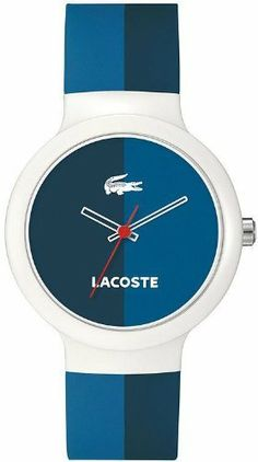 0e8e12998c7 Lacoste GOA Navy and Blue Dial White Plastic Unisex Watch 2020035 Lacoste.  Save 25 Off