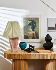 Tour the home of Sydney-based interiors and lifestyle photographer Jacqui Turk. The family home is an ode to her relaxed, contemporary Australian lifestyle. We love how she's styled this sideboard with ornate lamps and art. World Of Interiors, Decorating Small Spaces, Minimalist Home, Interior Design Inspiration, Lovers Art, Interior Styling, Console Table, Interior And Exterior, Room Decor