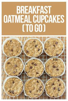 Breakfast Oatmeal Cupcakes - You cook just ONCE and get a delicious breakfast for the entire month - Easy & nutritious recipe loved by kids and adults: http://chocolatecoveredkatie.com/2013/01/08/breakfast-oatmeal-cupcakes-to-go/ @choccoveredkt