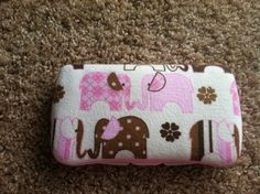 Pink Elephant Boutique Style Travel Baby Wipe Case