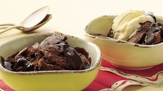 For a simple chocolaty dessert that serves eight, this is a super selection—only 15 minutes to put together!